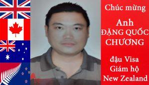 Khánh Nguyễn chúc mừng anh Đặng Quốc Chương đậu visa giám hộ New Zealand